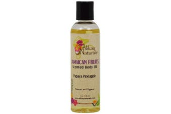 Alikay Naturals Jamaican Fruits Scents Body Oils- Papaya Pineapple 118ml/4oz