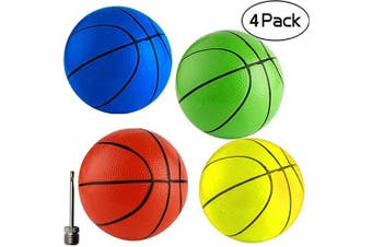 """(Rainbow) - Anzmtosn 6.29"""" 16CM Beach Small Bouncy Balls Toddlers Replacement Rubber Basketball Sports Toy Basketballs for Pool Kids Baby Boys Girls Adults School Playground Indoor Outdoor Home Office"""