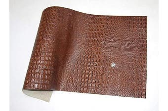 (18 x 24, Brown Alligator Print) - ABE Leather HIDES Cow Skins Various Colours & Sizes (Brown Alligator Print, 18 x 24)