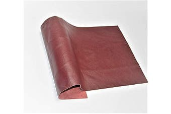 (12 x 24, Burgundy) - ABE Leather HIDES Cow Skins Various Colours & Sizes (Burgundy, 12 x 24)