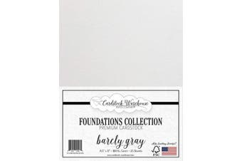 (Barely Gray) - Barely Grey Cardstock Paper - 22cm x 28cm Premium 45kg. Cover - 25 Sheets from Cardstock Warehouse