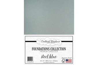 (Steel Blue) - Steel Blue Cardstock Paper - 22cm x 28cm Premium 45kg. Cover - 25 Sheets from Cardstock Warehouse