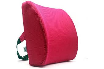 (Romantic-pink) - Valuetom Premium Lumbar Support Pillow - Memory Foam Lower Back Support Cushion for Your Home, Office Chair, and Car - New Ergonomic Memory Foam Design with Cool Mesh Fabric (Romantic-Pink)