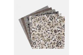(Elemental Nuances) - Connecting Threads Print Collection Precut Quilting Fabric Bundle 25cm Squares (Elemental Nuances)