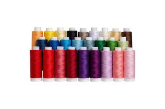 Connecting Threads 100% Cotton Essential Thread Set - 26 Spools 220 Yards Each with Carrier