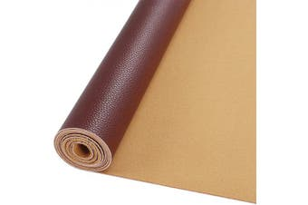 (Reddish Brown Roll) - AOUXSEEM Vivid Shiny Pearl Litchi Pattern Faux Leather Sheets for Earrings Bows Ornaments Making,Metallic Solid Colour PU Fabric Cotton Back 1mm Thickness【A4 Size/21cm x 30cm】 (Reddish Brown Roll)