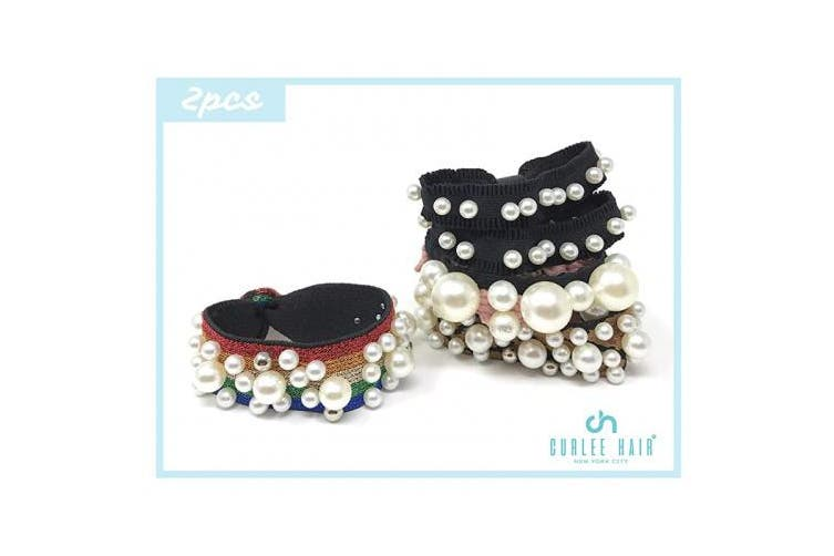 (1) - Curlee Multi Design Themed Hair Tie Clip Accessories Set Selection Perfect for Gift (1)