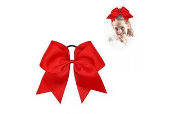 (235) - CN Large Cheer bow 20cm Girls Ponytail Holders Jumbo Teams Cheerleaders Hair Bows Competition Sports Elastic Hair Ties Accessories