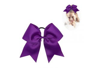 (465) - CN Large Cheer bow 20cm Girls Ponytail Holders Jumbo Teams Cheerleaders Hair Bows Competition Sports Elastic Hair Ties Accessories