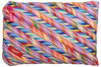 (Jumbo Pencil Case, Stripes) - ZIPIT Colorz Big Pencil Case/Cosmetic Makeup Bag, Stripes