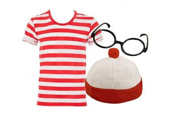 (5-6) - 7STYLES® RED AND WHITE COSTUME KIDS WORLD BOOK DAY WEEK CHILDREN FANCY DRESS (5-6)