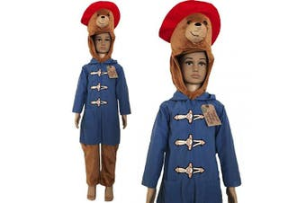 (3-4 Years) - Deluxe Official Childrens Paddington Bear Fancy Dress Costume World Book Day (3-4 Years)