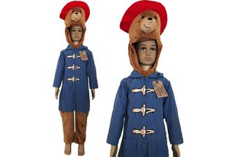 (5-6 Years) - Deluxe Official Childrens Paddington Bear Fancy Dress Costume World Book Day (5-6 Years)