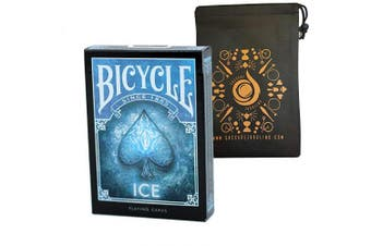 Bicycle Ice Playing Cards - Cool Poker Sized Bicycle Deck - Includes Cascade Card Bag