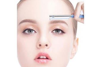 (Mixed 6 Styles Stencils+Razors) - Eyebrow Stencil with Eyebrow Razor - Brow Stencil Ruler Shaping Template for DIY Grooming(Mixed 6 Styles Stencils+Razors)