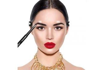 (Eyebrow Stencil Strap Headband) - Eyebrow Stencil Kit - 12 Arched Eyebrow Stencil Head Straps with Printable Templates & 2 Adjustable headbands - HIME SAMA Reusable Eyebrow Shaping Stencils, Your Best Makeup First Aid DIY tool