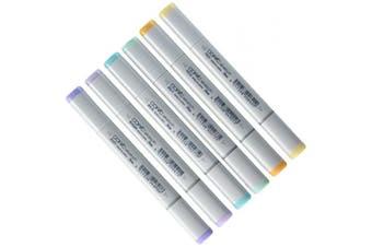 (Pastels) - Copic Markers 6-Piece Sketch Set, Pale Pastels