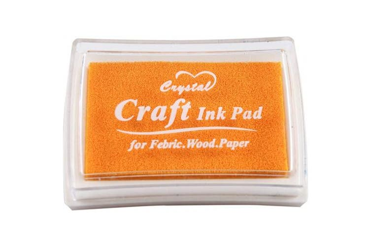 YPSelected Craft Ink Pad Inkpad for Paper Wood Fabric 15 Colours Available for Rubber Stamps (Dark Yellow)