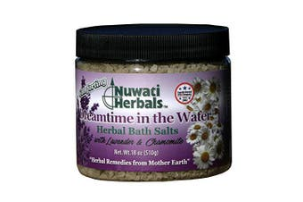 Nuwati Herbals Dreamtime in the Water Herbal Bath Salts - For Soothing Relaxation – With Lavender Essential Oil and Chamomile, 530mls