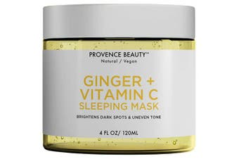 (Ginger + Vitamin C) - Ginger and Vitamin C Gel Face Mask - Hydrating Face and Neck Moisturiser for Anti Ageing, Wrinkle, Acne, Firming and Dry Skin - Organic Facial Mask for Women, Men and all Skin Types - 120ml