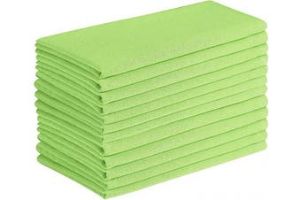 (Green, 20x20) - Cotton Clinic Cloth Napkins Washable Easycare Set of 12, 50x50 cm Soft and Comfortable Cotton Dinner Napkins Cloth for Wedding Party Dinner Table, Tea Party Napkins - Lime Green