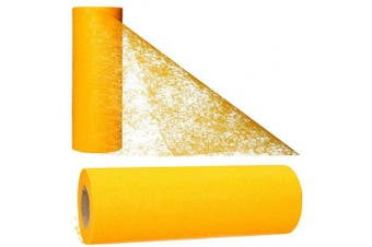 (Egg Yolk) - AmaCasa Table runner non-woven table ribbon flower decoration wedding communion 23cm / 20m roll (Egg Yolk)