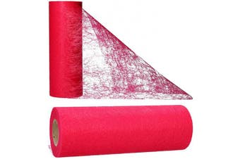 (Raspberry Red) - AmaCasa Table runner non-woven table ribbon flower decoration wedding communion 23cm / 20m roll (Raspberry Red)