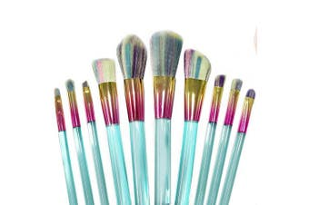 Professional makeup brush kit- 10 brushes. Soft bristles. Makeup brushes for powder, contour, blush, concealer, eye shadow, eye contour, brow, lip and more.