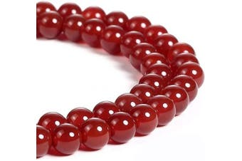 "(Red) - favoramulet Carnelian 8mm Loose Round Stone Bead for Jewellery Making DIY Craft 15"" Strand"