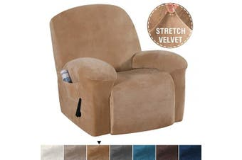 (Recliner, Luggage) - Velvet Plush Strapless Sofa Cover Furniture Protector Velvet Couch Cover for Recliner Couch Form Fit Slip Resistant Stylish Furniture Protector Machine Washable Recliner, Luggage