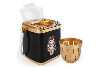 (Black) - Makeup Washing Machine Mini Automatic Makeup Brush Cleaner Device, Sponge and Cosmetic Powder Puff Deep Cleaning Machine Mini Toy (Black)