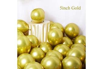 (Gold) - Metallic Gold Balloons 13cm 50pcs Latex Party Balloons Baby Shower Helium Balloons Gold Birthday Balloon