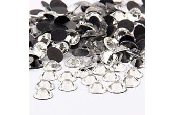 Beadsland Crystal Hotfix Rhinestone,Machine Cut Stone 100pcs/pkg (Crystal, 8mm)