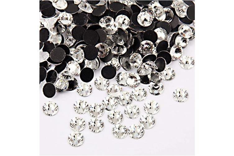 Beadsland Crystal Hotfix Rhinestone,Machine Cut Stone 100pcs/pkg (Crystal, 7mm)