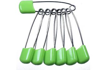 (Green) - AnMiao Star 5.1cm Long 50 Pcs Plastic Head Safety Pin for Blankets, Skirts, Kilts, Knitted Fabric,Crafts (Green)