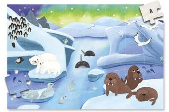 (The Arctic) - A2PLAY USA Innovative 48 Piece Floor Puzzle for Kids & Treasure Map System, Jigsaw Puzzles for Kids, Toddlers, Preschool Age 3,4,5,6, Extra Large Childrens Puzzles (0.6m x 0.9m Long)
