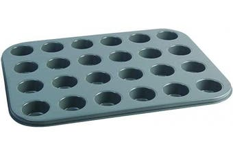 (24 HOLE) - Jamie Oliver Bakeware Range Non-Stick Mini Muffin Tray with 24 Holes - Carbon Steel/Harbour Blue