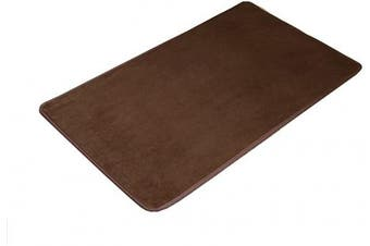 (Brown 40×60cm) - Lemong Non-slip Waterproof Anti-Bacterial Mat Comfort Kitchen Rugs Mats All-Purpose Floor Mats For Kitchen Bathroom or Workstations Brown