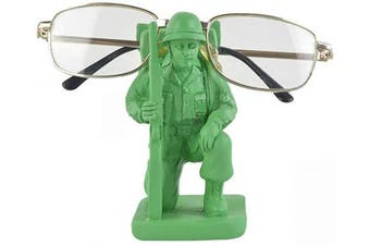 Novelty Soldier Shaped Spectacle/Smartphones Display Stand for Mum/Dad/Kids, Hand Painted Resin Eyeglasses Holder Sunglasses Reading Glasses Retainers, Creative Eyewear Rack for Home Office Desk Decor