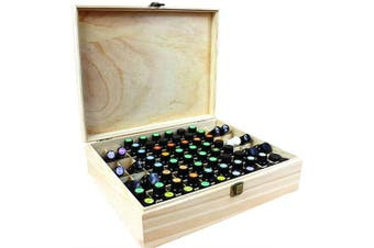 (#3) - CHSEEA Wooden Essential Oil Case Travel Display Presentation Organiser, 68 Slots Aromatherapy Carrying Box Nail Polish Essential Oil Storage Box for Travel Presentations#3