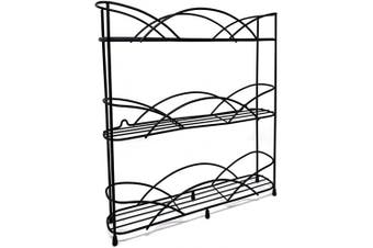 (Spice rack) - Spice Racks Free Standing for Spice & Herb Rack - Holds 21 Jars - Includes 2 Suction Cups (Black)