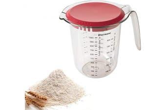 Westmark Measuring jug with lid 1l, Transparent/Rot, 1 Litre