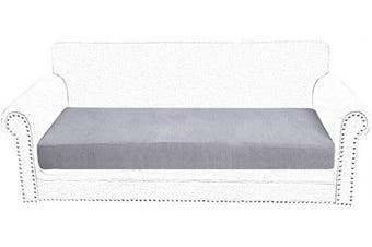 (2 Seater, Light Grey) - Littleduck Sofa Cushion Covers 2 Seater Elastic Sofa Seat Cushion Covers Couch Slipcover Stretch Sofa Cover Furniture Pet Protector Light Grey