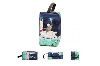 (Sloth Riding Llama) - Makeup Bag Cosmetic Toiletry Travel Bag Sloth Riding Llama Organiser Pouch for Women Men
