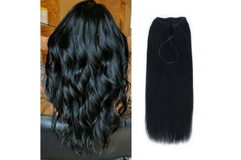 (41cm , 1#) - AmazingBeauty Miracle Wire Hair Extensions - Invisible Miracle Wire Remy Human Hair, 1 Jet Black, 41cm