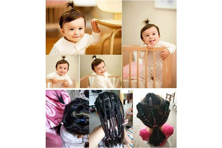 (#1) - 1000 PCS Toddlers Girl Colourful Fashion Disposable Rubber Band Elastic Hair Band Baby Hair Ties with Cute Storage Bag (#1)