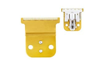 (Gold T + Ceramic) - Pro Li Trimmer Replacement T Blade Ceramic Blade -Carbon Steel Blade for Andis Pro Li D8 (Ceramic + Gold Blade) (Gold T + Ceramic)