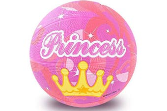 ArtCreativity Mini Princess Basketball for Kids, Cute Princess Gift for Girls, Princess Birthday Party Favours, Goodie Bag Filler, Game Prize, Rubber Princess Ball - Sold Deflated