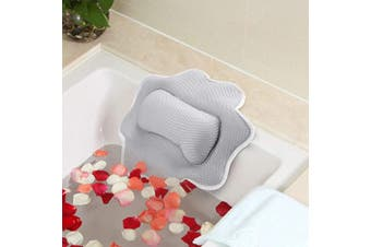 Fuloon Bath Pillow,5D Air Mesh Anti-mould Non-Slip Bathtub Pillow Cushion Provides Head,Neck and Shoulder Support,Machine Washable Fits Any Tub