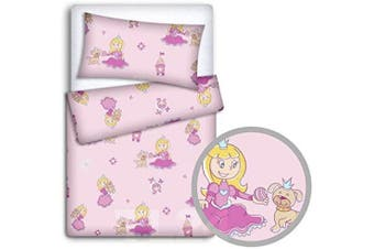 Baby Bedding Set Pillowcase + Duvet Cover 2PC to FIT Baby COT Bed (Princess)